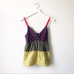 The Limited | Color Block Babydoll Tank Top Size S